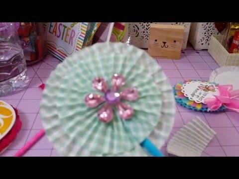 Cupcake liners rosette tutorial🌼🌸🌹