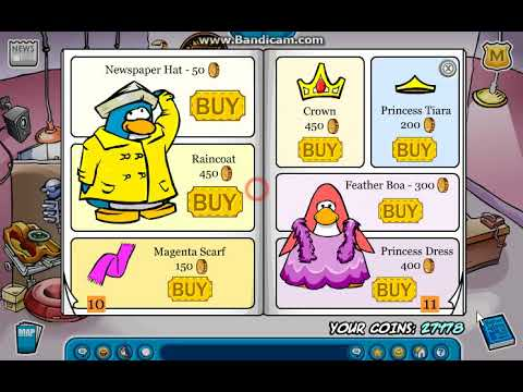 Old School Club Penguin Penguin Style February 2006 and glitch