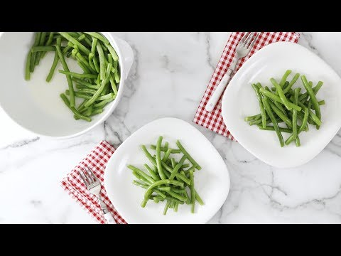 Microwave-Steamed Garlic Green Beans- Martha Stewart