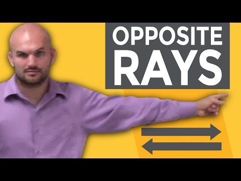 What are opposite rays