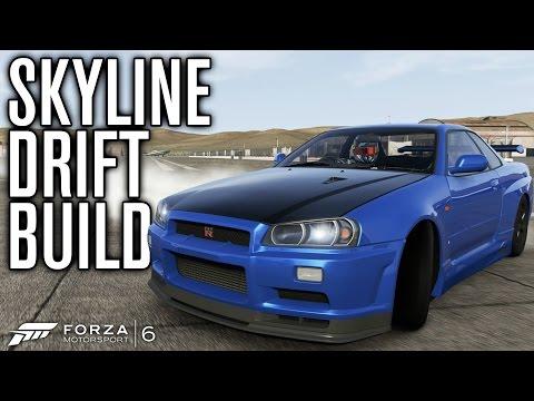 NISSAN SKYLINE GTR R34 DRIFT BUILD! | Forza Motorsport 6