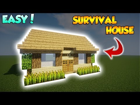 Minecraft: Starter Survival House Tutorial - How to build a Cool Survival House
