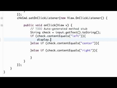 Android Application Development   29   Set Gravity within Java