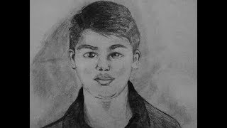 How to draw portrait young boy. Speed sketching
