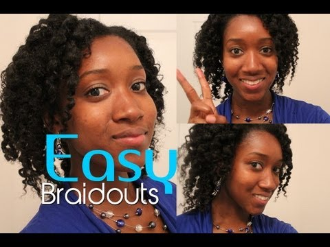 How to Braid Out Natural Hair Tutorial Easy for Back to School!