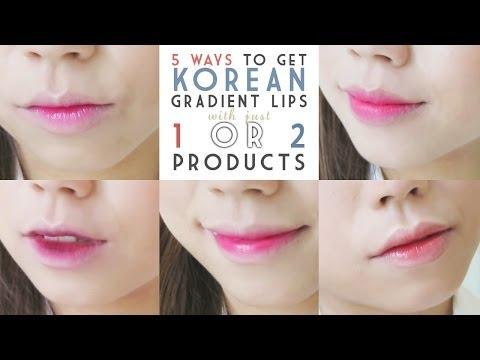 5 Ways To Get Korean Gradient Lips (TUTORIAL with 中文字幕))