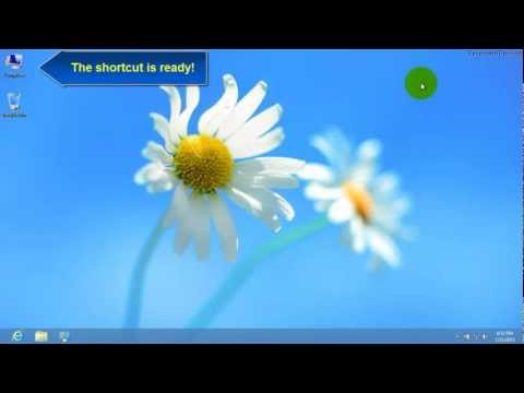Windows 8 - Create desktop shortcut for my computer