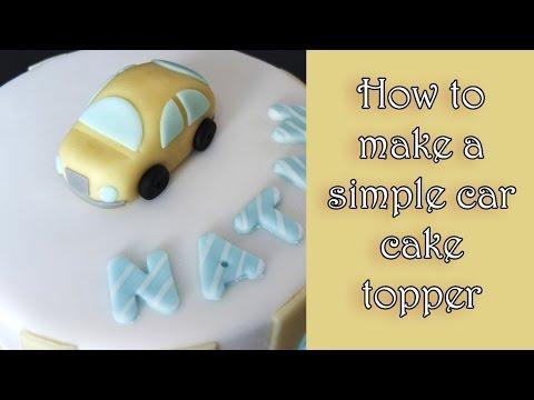 How to make fondant car tutorial / Tutorial jak zrobić auto z masy cukrowej
