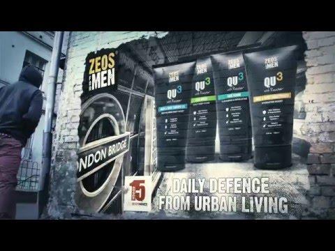 ZEOS FOR MEN QU3 Urban Men's Skin Care - Take On The City