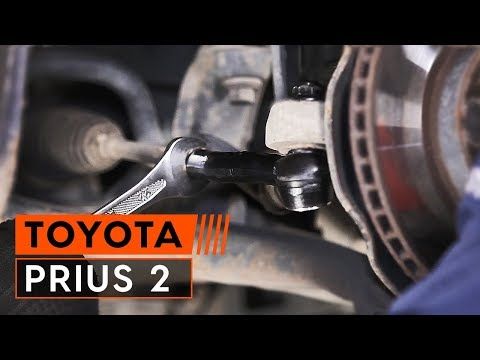 How to replace track rod end TOYOTA PRIUS 2 [TUTORIAL AUTODOC]