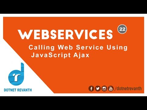 Calling Web Service Using JavaScript Ajax || Part-22
