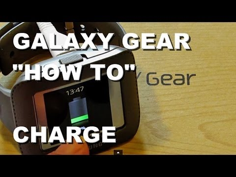 Samsung Galaxy Gear: How To Charge The Battery