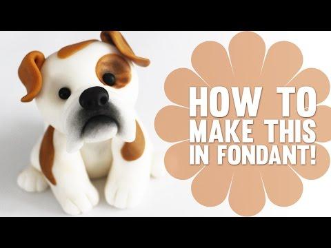 Super Speed Video - How to create a cute Bulldog Cake Topper