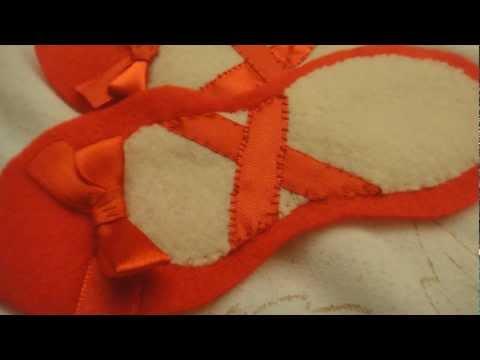 Felt Ballet Shoes (Tutorial)