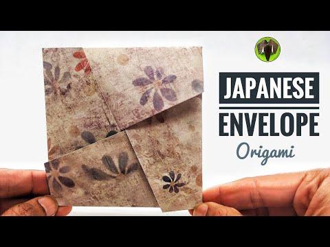 JAPANESE ENVELOPE  - DIY   Handmade Origami Tutorial by Paper Folds