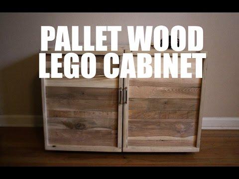 Pallet Wood LEGO Cabinet