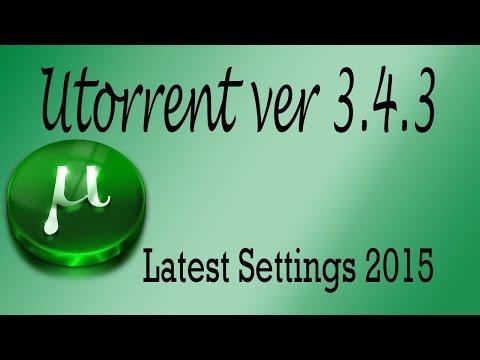 μTorrent Settings with latest tweaks for 3x download speed 2015