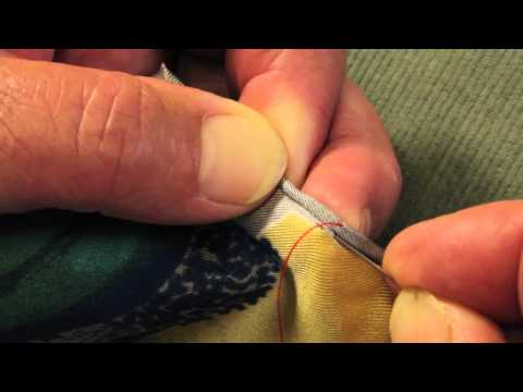 How to hand roll a silk scarf