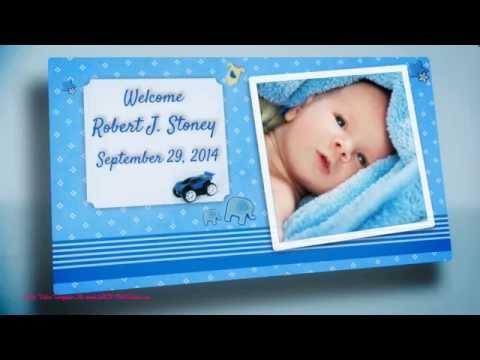 It's A Boy Video Birth Announcements. Baby Birthday Videos