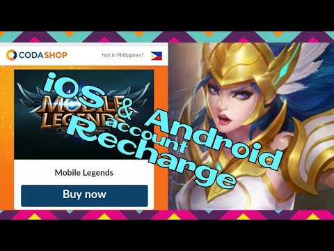 iOS and android top up tutorial || How to recharge diamonds in Mobile Legends via Codashop