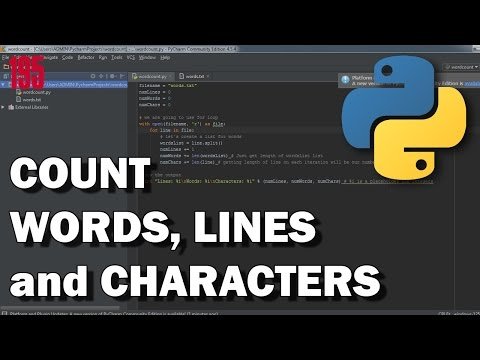 PYTHON Count lines, words and characters in text file