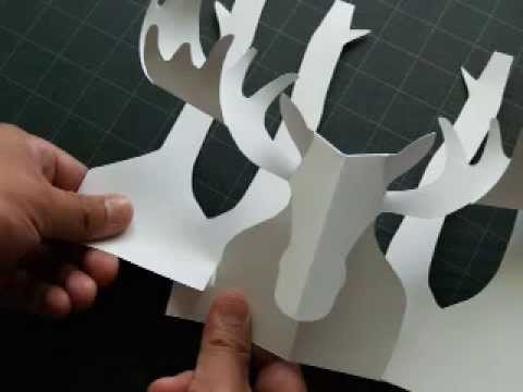 How to Make a Kirigami Moose Pop-up Card
