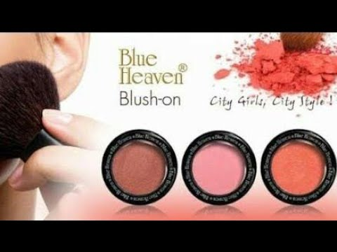 Blue heaven Diamond blush Review in Hindi/full demo how to apply blush on face
