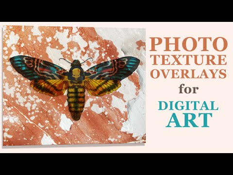 How To Add Photo Textures To Digital Art (Photoshop & Corel Painter)