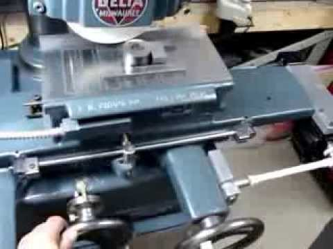 Vintage Delta Surface Grinder Homemade table Feed