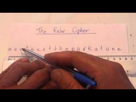 How to Create a Coded Message - The Ruler Method - Secret Code - Step by Step Instructions