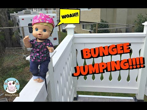 Baby Alive Bailey goes Bungee Jumping