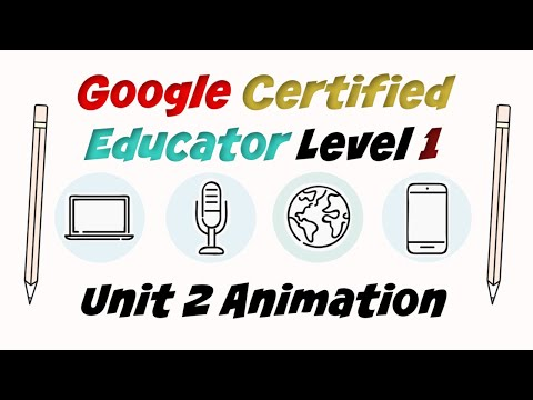 Google Certified Educator Level 1: Unit 2 Training