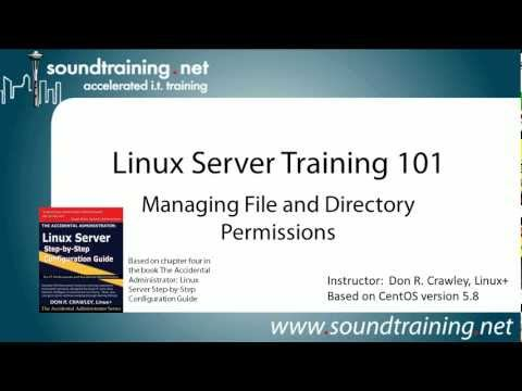 How to Understand Linux File and Directory Permissions:  Linux Server Training 101