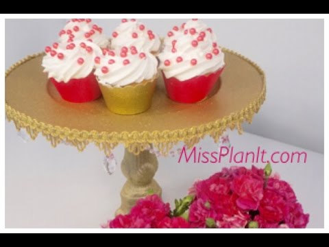 DIY: Tutorial Royal Cake Stand For Under $15.00!