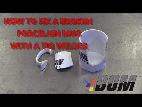 How to Fix a Porcelain Mug with a TIG Welder