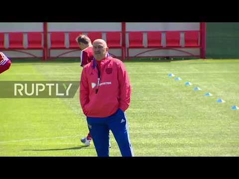 Russia: National team prepare for WC warm-up game against Turkey