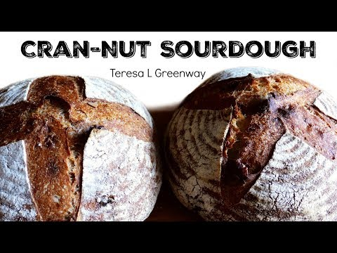 Cranberry Walnut Sourdough - How to Fold in the Goodies