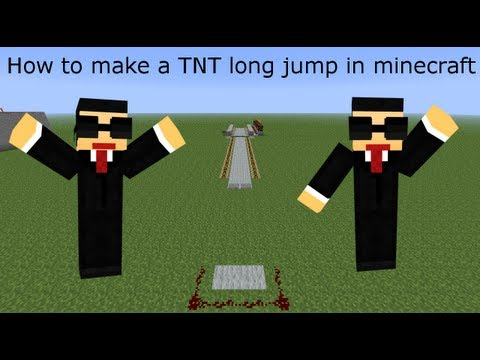 How to make a TNT long jump in minecraft