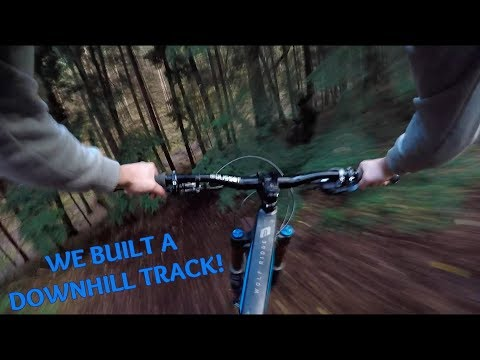 HOW TO BUILD A DOWNHILL TRACK WITH NO TOOLS!!?
