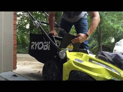 Ryobi 18V Electric Lawn Mower Cordless P1111 ONE+ Review Part 1