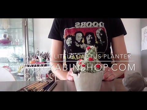 How to make a ceramic pottery  cactus planter pot