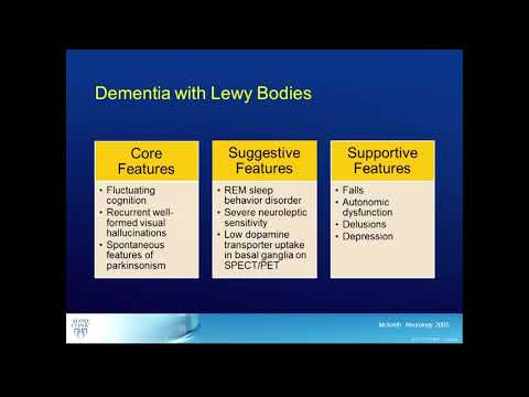 Overview of Dementia with Lewy Bodies (DLB)