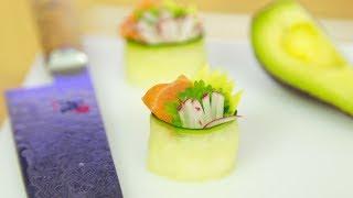 Cucumber Salmon Sushi Canapé Recipe