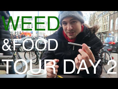 WEED & MUNCHIES IN AMSTERDAM 😎 ☁️ #EuroweekDAY2 Travel Vlog – more Buds, more Coffee, more Food :)
