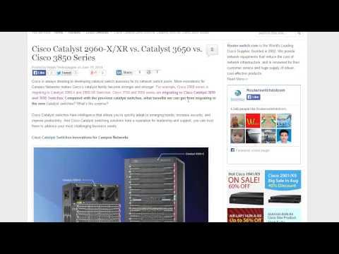 Cisco Catalyst 2960-X/XR vs 3650 vs 3850 Switch