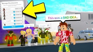 I gave the ENTIRE SERVER Permission On My Plot.. BAD IDEA! (Roblox Bloxburg)