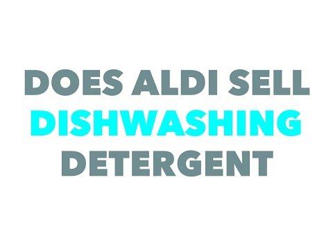 Does Aldi sell dishwashing detergent