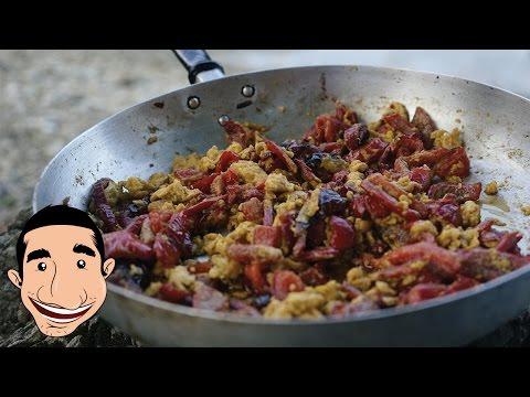 ITALIAN PEPPERS AND EGGS | Capsicum Recipes (Pipindun e Ove) | Easy Breakfast Recipes