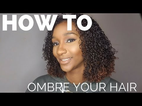 How To Ombre Your Own Hair Without Bleach (NATURAL HAIR)