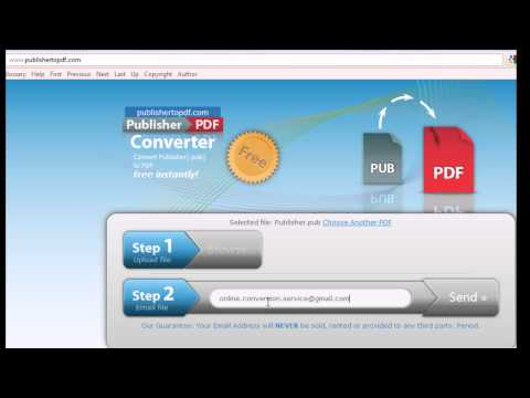 Convert Publisher (.pub) documents to PDF for Free Online